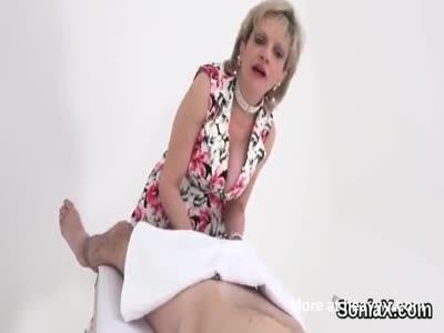Unfaithful uk mature gill ellis showcases her huge knockers