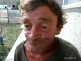 Homeless guy swallows a live frog