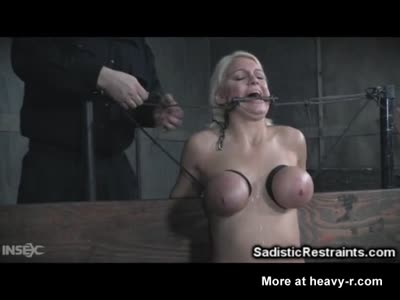 Brutal BDSM Breast Bondage