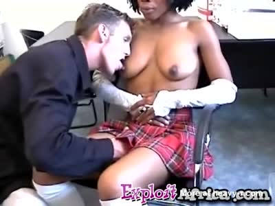 Sexy African Slut Enjoys Hardcore Threesome