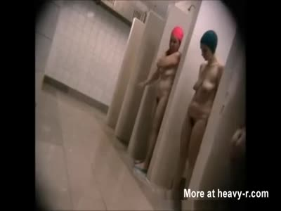 Sexy Moms in a public shower room