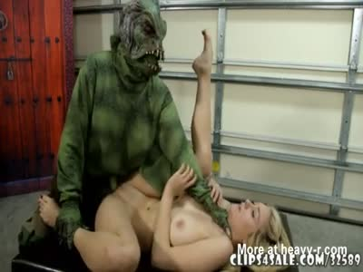 Monster attacks blonde