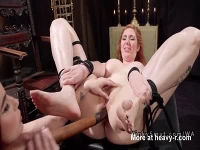 Busty Mistress Anal Breaking Redhead Slave