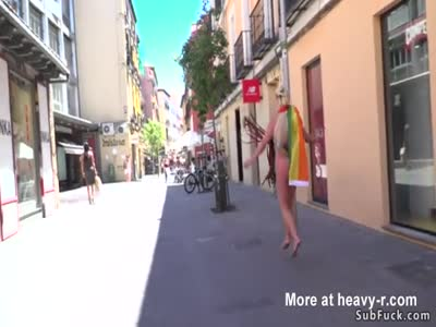 Body painted blonde disgraced in public