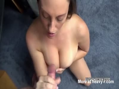 Milking Cock Down On Her Knees