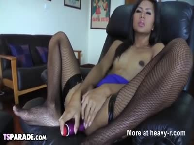 Small Tittied Shemale Pleases Herself