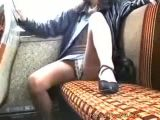 Girls Shows Off Her Goods In Public Bus