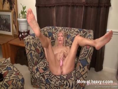 Hairy Granny Masturbating With Dildo