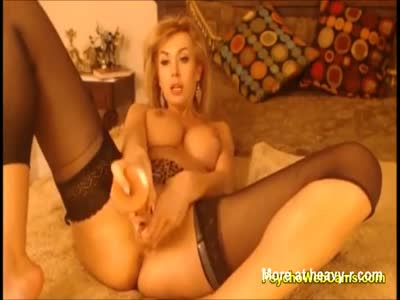 MILF With Unique Pussy Fucking Dildo