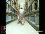 Cat Woman Running Naked In College Library