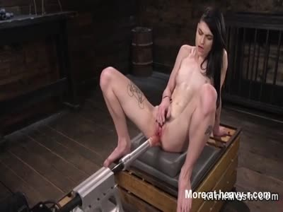 Drilled Hard On Fuck Machine