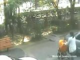 Woman and her baby run over by car