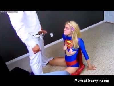 Blonde Supergirl Forced To Become Sex Slave