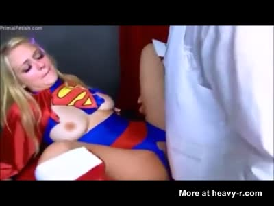 Blonde Supergirl forced to become sexual slave