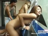Japanese Babes FIngered In View