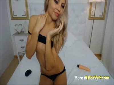 Blonde Beauty Masturbating