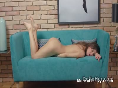 Sexy Ballerina Playing With Virgin Pussy on a sofa