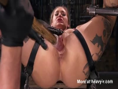 Bound Blonde Attacked With Toys