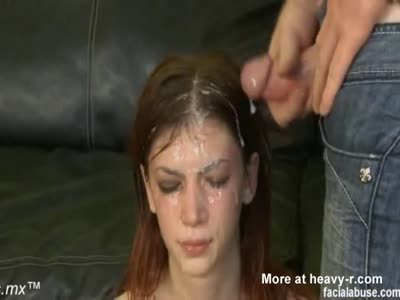 Teen Suffering Cumshots To The Face