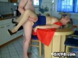 Granny Fisted On Kitchen Table