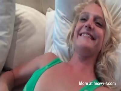 Blonde sex doll pussy fingered in POV close-up