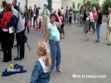 No Bra Festival Dancer