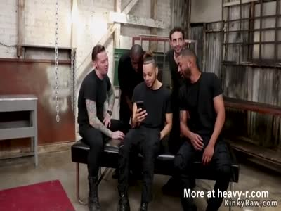 Delivery girl orgy bdsm gangbang fucked