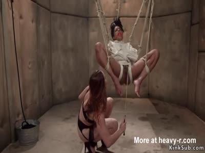 Psycho prisoner anal fucks ebony detective