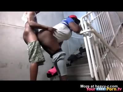 Ghetto Public Staircase Sextape