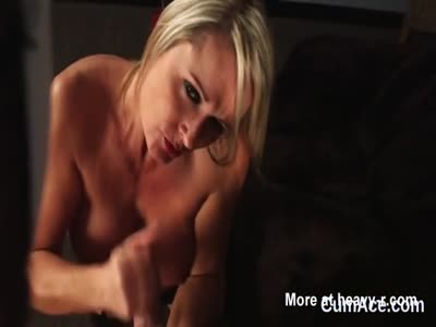 Busty Honey Gets Jizz Shot On Face