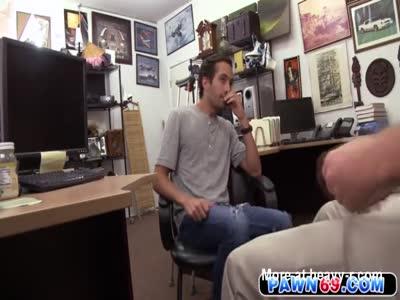 Straight dude loses his pride in a gay shop when gets fucked