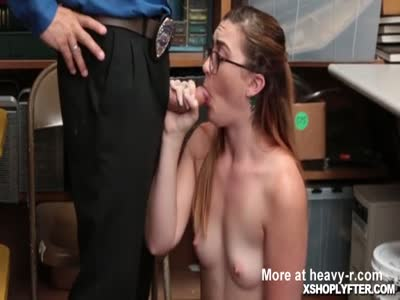 Teen Gets Her Pussy Fucked By Security