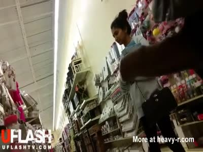 Flashing Girl In Store