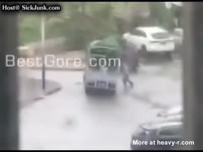 Retard Dies Trying To Save His Truck