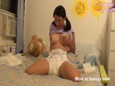 Japanese Teen Playing In A Diaper