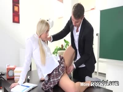 Elegant schoolgirl gets seduced and pounded by her elderly m