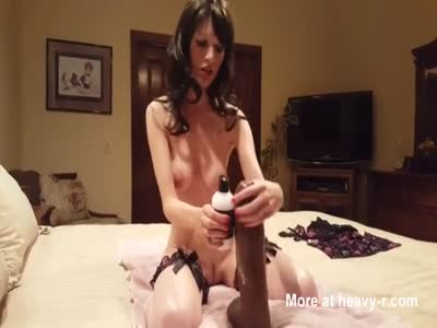 Tiny MILF With Huge Dildo