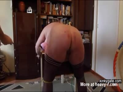 My fat slut ass gets caned