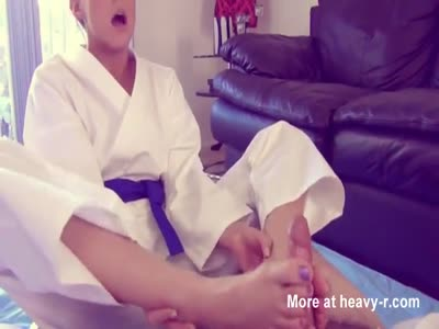 Karate Girl Insane Footjob
