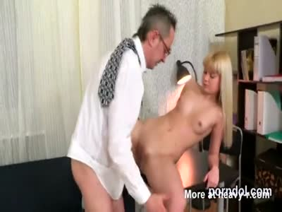 Natural schoolgirl is teased and shagged by her senior schoo