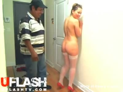 Spanked By Pizza Delivery Guy
