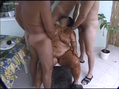 Scat Gangbang With Fat Bitch