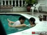 Couple Caught Fucking In Pool