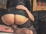 Fat wife riding her husbands cock anal