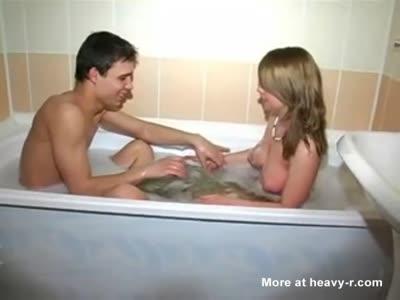 Siblings Playing In Tub