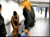 Trany tosses guy like a rag doll