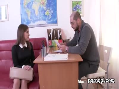 Lovesome schoolgirl gets seduced and banged by her older tea