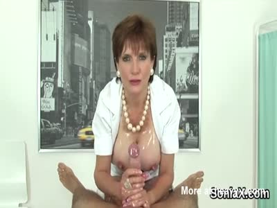 Busty Nurse Gives Handjob