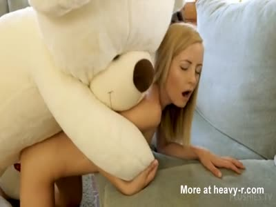 Kinky Teen Fucks Teddy Bear