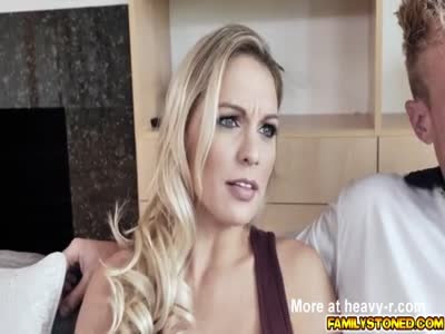 Milf Kenzie Taylor reward her stepson with her pussy